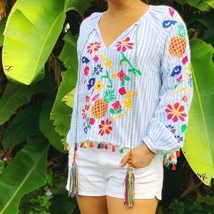 Zara Women's Embroidered Blouse